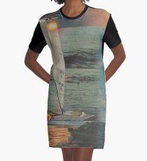 Sun Set Sail Graphic T-Shirt Dress
