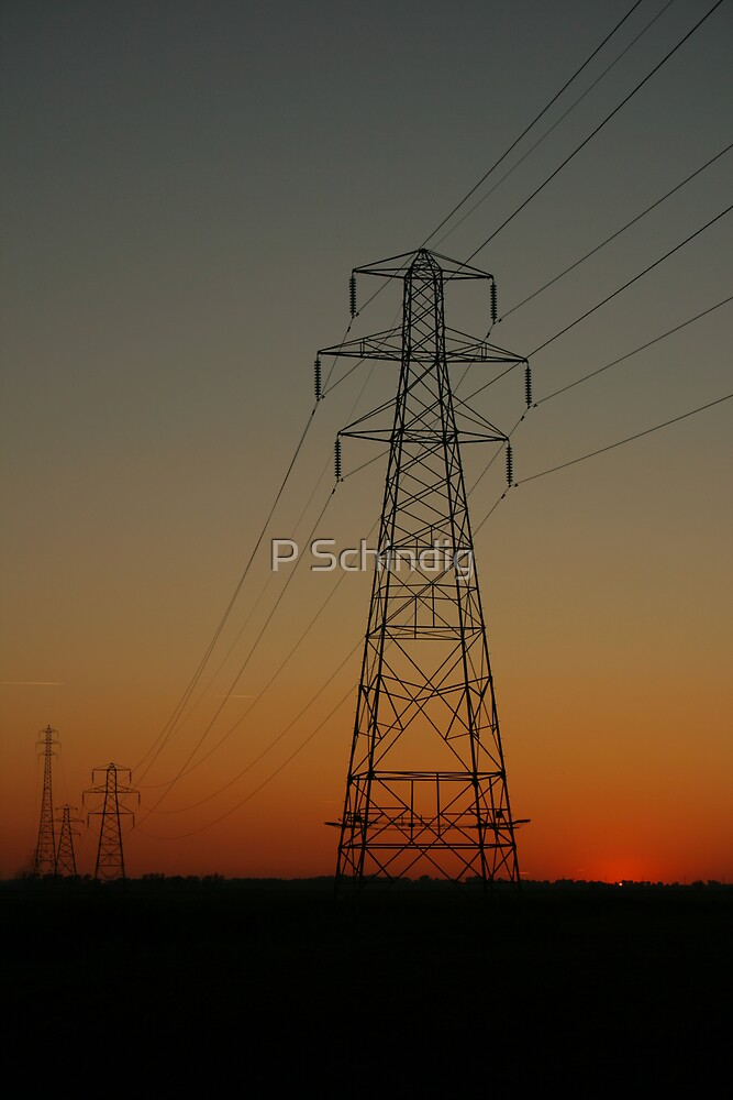 electric sunset by P Schindig