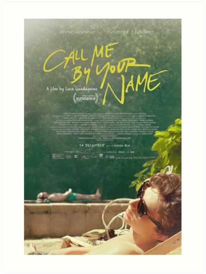 Call Me By Your Name Movie Poster Art Prints By Robertboy Redbubble