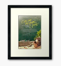 Call Me By Your Name Movie Poster Framed Print
