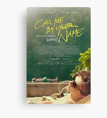Call Me By Your Name Movie Poster Canvas Print