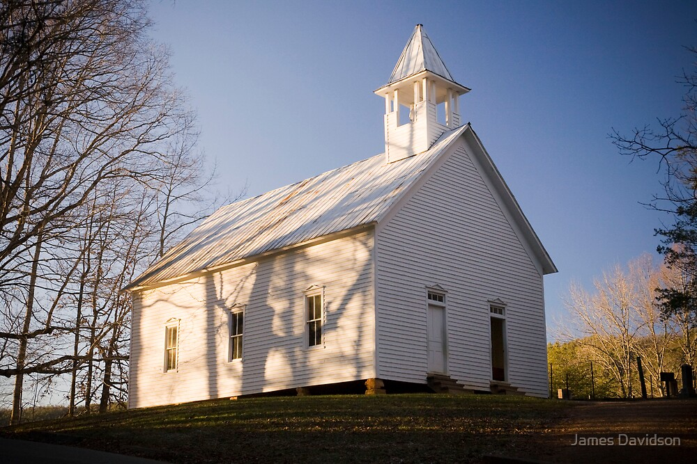 Cades Cove Church by James Davidson