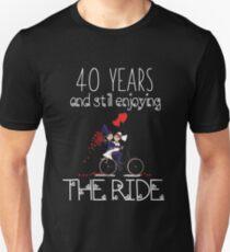 40 Years And Still Enjoying The Ride Anniversary Apparel Unisex T-Shirt