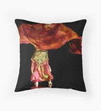 bellydancer Throw Pillow