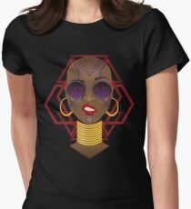 Dora Milaje: Move, or You Will Be Moved (version 2) Women's Fitted T-Shirt
