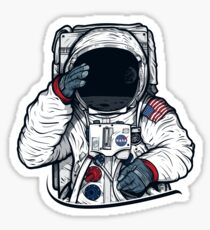 Apollo Mondmission Astronaut Illustration (SPACE YO) Sticker