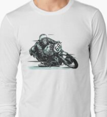 wonderful vector vintage motorcycle Long Sleeve T-Shirt
