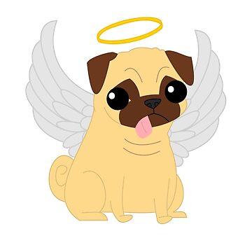Angel Pug by Iceyuk