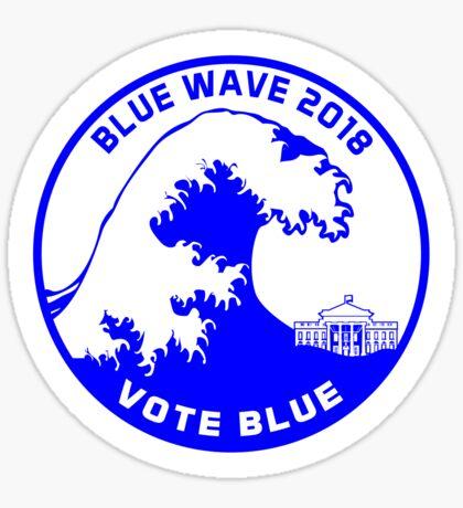 Blue Wave 2018 Vote Blue Sticker