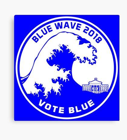 Blue Wave 2018 Vote Blue Canvas Print