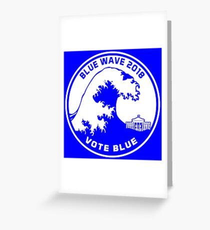Blue Wave 2018 Vote Blue Greeting Card