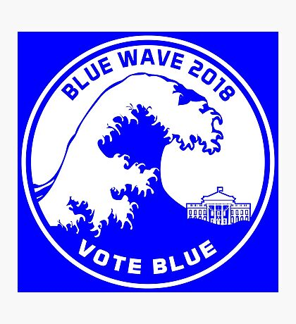 Blue Wave 2018 Vote Blue Photographic Print