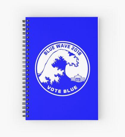 Blue Wave 2018 Vote Blue Spiral Notebook