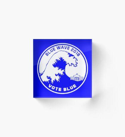Blue Wave 2018 Vote Blue Acrylic Block