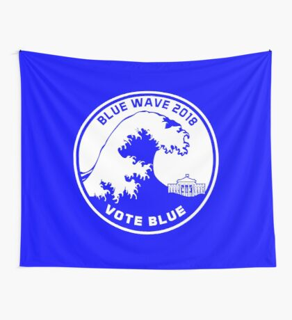 Blue Wave 2018 Vote Blue Wall Tapestry