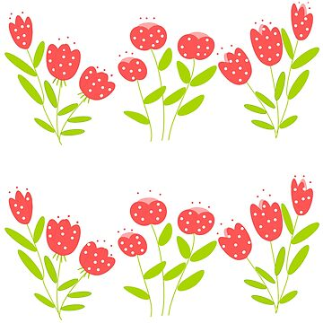 red and mottled flowers by susana-art