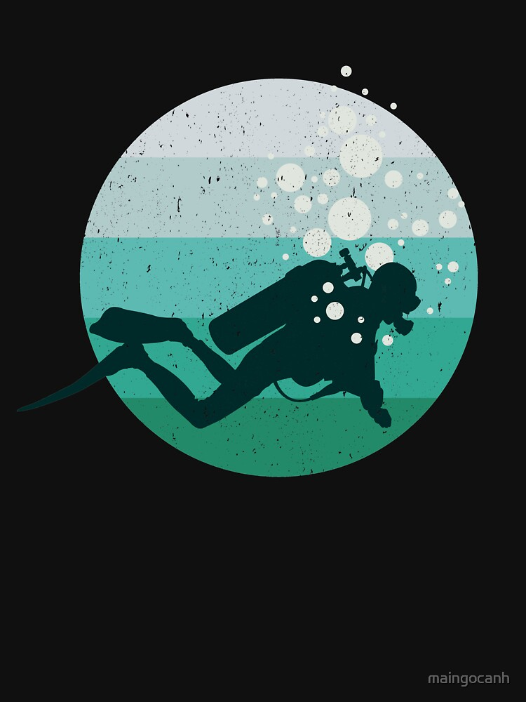 Retro Scuba Diving T-Shirt. Costume For Dad/Grandpa. by maingocanh