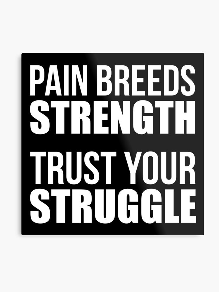 La Douleur élève La Force Citation De Forme Physique De Gymnastique Impression Métallique