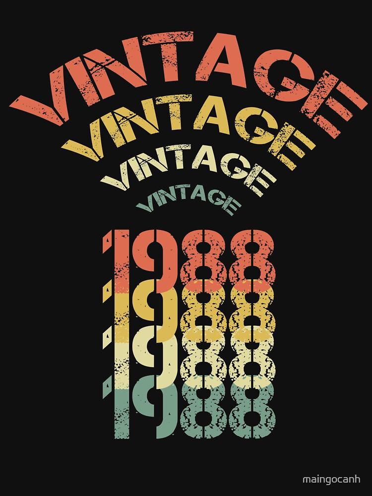 Birthday Gift For 30 Years Old. Retro 1988 T-Shirt. by maingocanh
