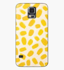 Yellow brush strokes Case/Skin for Samsung Galaxy