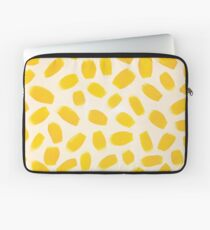 Yellow brush strokes Laptop Sleeve