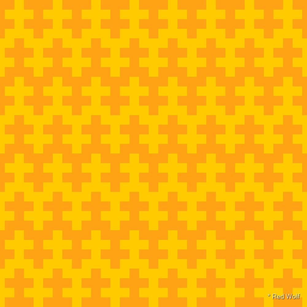 Geometric Pattern: Cross: Yellow by * Red Wolf