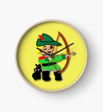 Kid Billy retro featuring Robin Hood Tee Clock