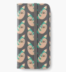 Sloths and pencils iPhone Wallet/Case/Skin