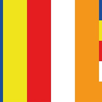 Buddhist Flag by Chairboy