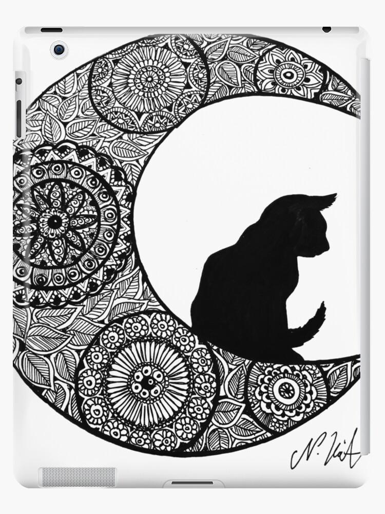Katze Mond Mandala\