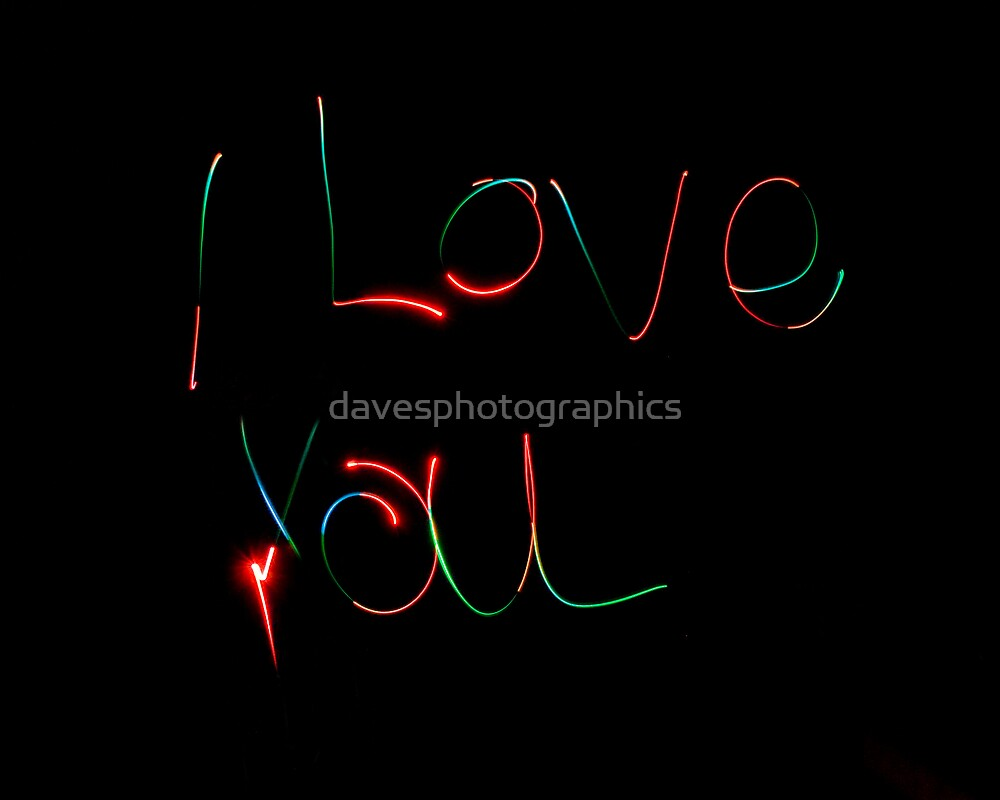 Coloured I Love You by davesphotographics