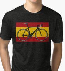 Bike Flag Spain (Big - Highlight) Tri-blend T-Shirt