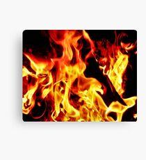 Flames Aglow Canvas Print