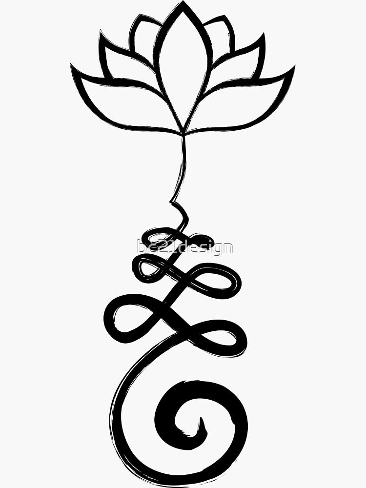 Unalome mit Lotus von bc21design