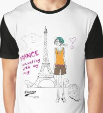 France Traveling Graphic T-Shirt