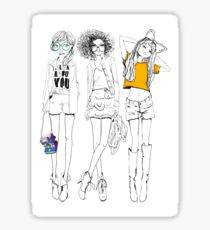 3 Stylish Girls Sticker