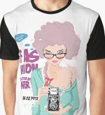 Purple-Hair Fashion Photographer Graphic T-Shirt