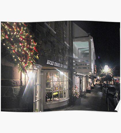 Princeton Streets Illuminated by night....    Poster