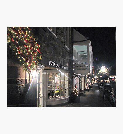 Princeton Streets Illuminated by night....    Photographic Print