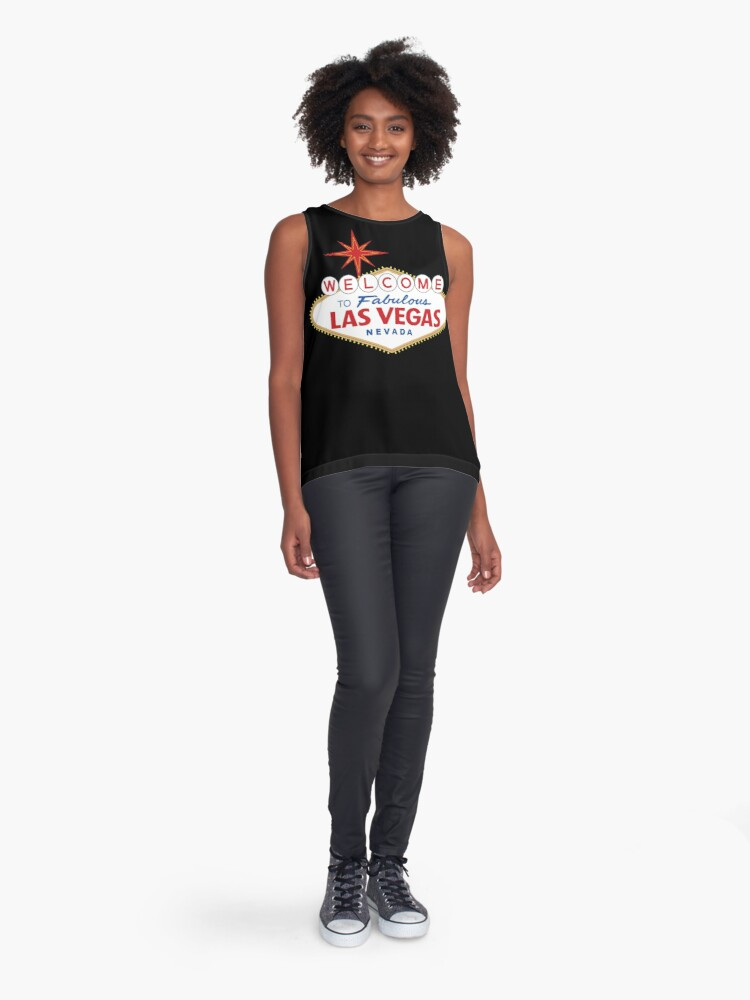 Alternate view of Welcome to Fabulous Las Vegas Sign Sleeveless Top