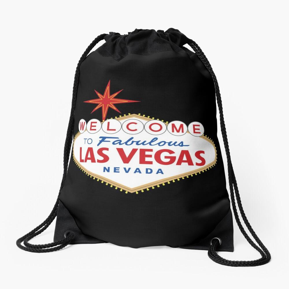 Welcome to Fabulous Las Vegas Sign Drawstring Bag