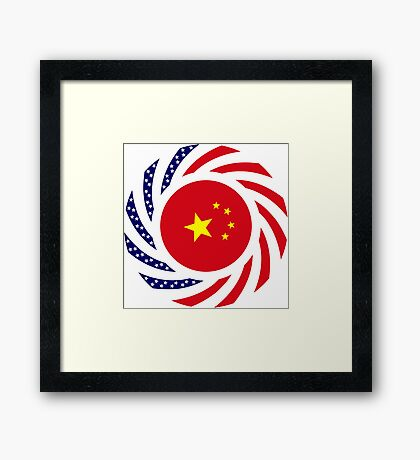 Chinese American Multinational Patriot Flag Series Framed Print