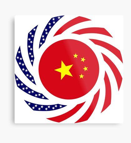 Chinese American Multinational Patriot Flag Series Metal Print