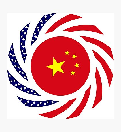 Chinese American Multinational Patriot Flag Series Photographic Print
