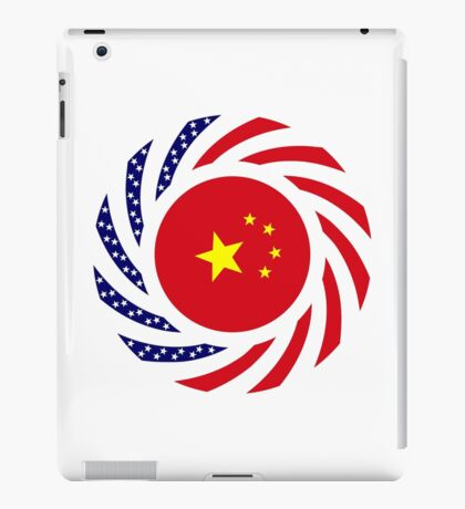 Chinese American Multinational Patriot Flag Series iPad Case/Skin