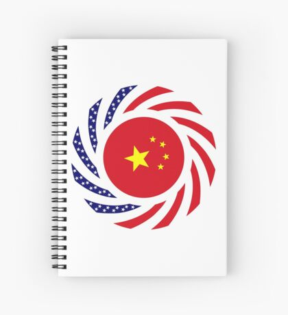 Chinese American Multinational Patriot Flag Series Spiral Notebook