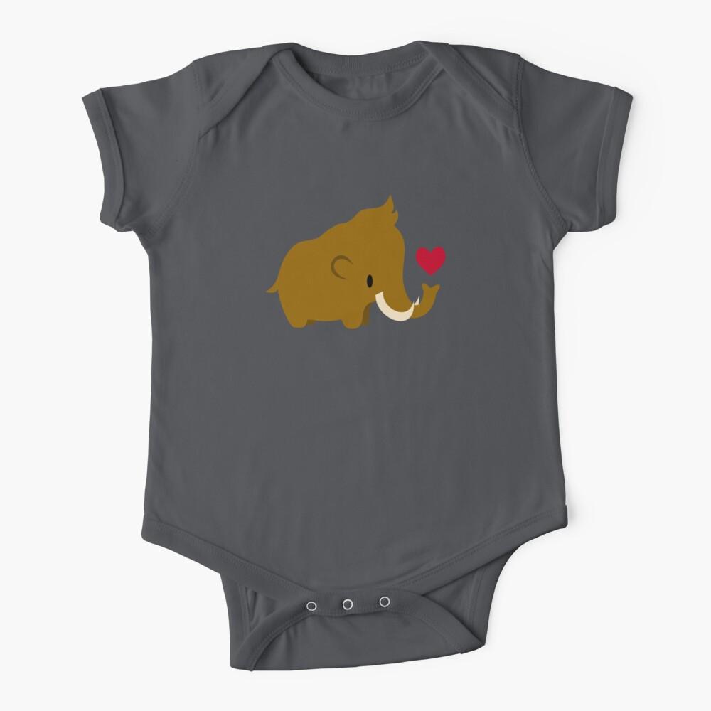 Kawaii mammoths Baby One-Piece