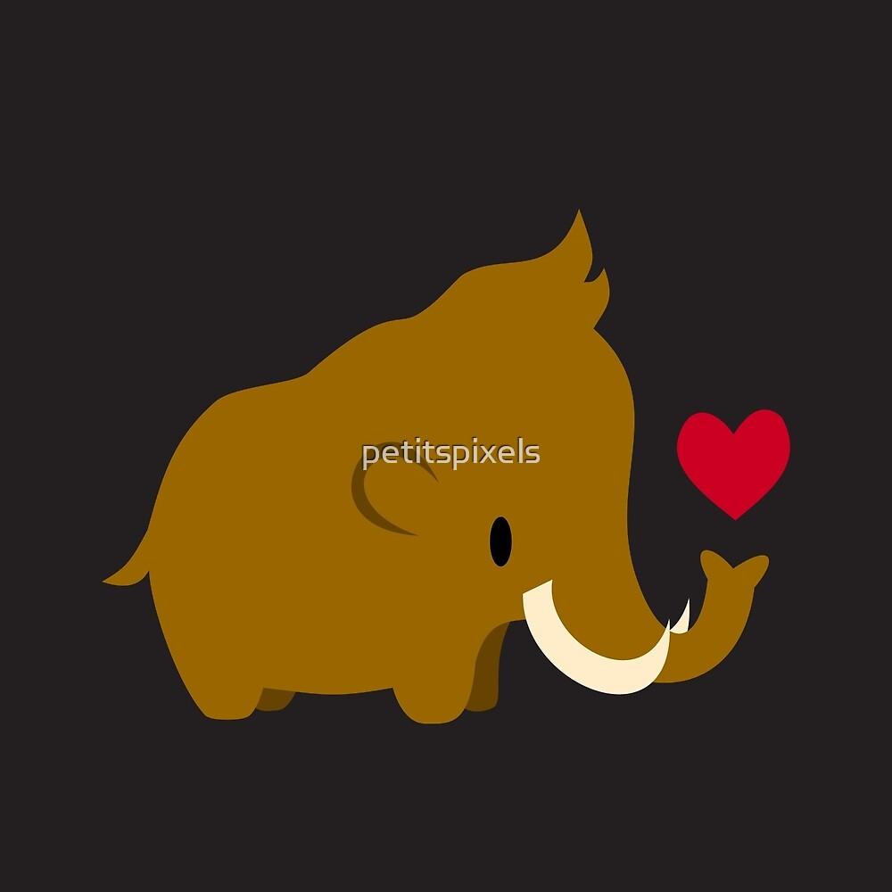 Kawaii mammoths by petitspixels