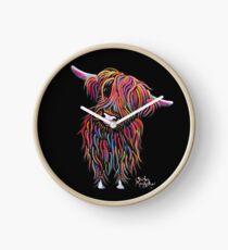 Reloj Scottish Highland Cow 'BoLLY' por Shirley MacArthur