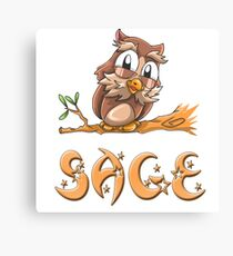 Sage Owl Canvas Print